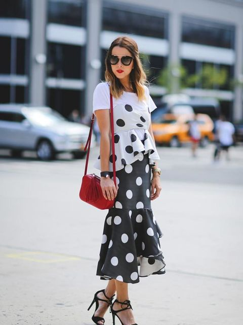 Raquel Canas wearing Monica Arguedas and carrying a Gucci bag