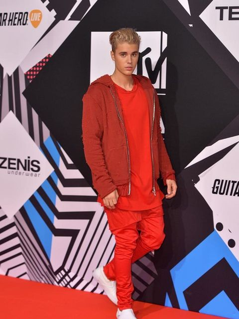Justin Bieber on the MTV EMA's red carpet in Italy, October 2015
