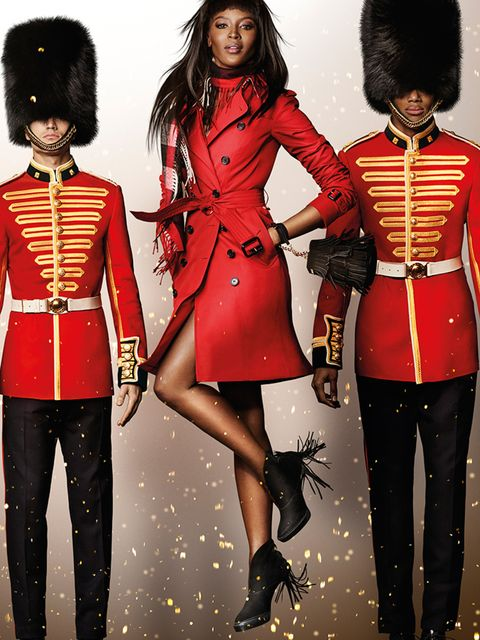 <p>Naomi Campbell in the Burberry Festive campaign</p>