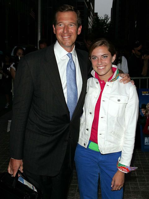 Allison Williams, 16, with her father Brian Williams