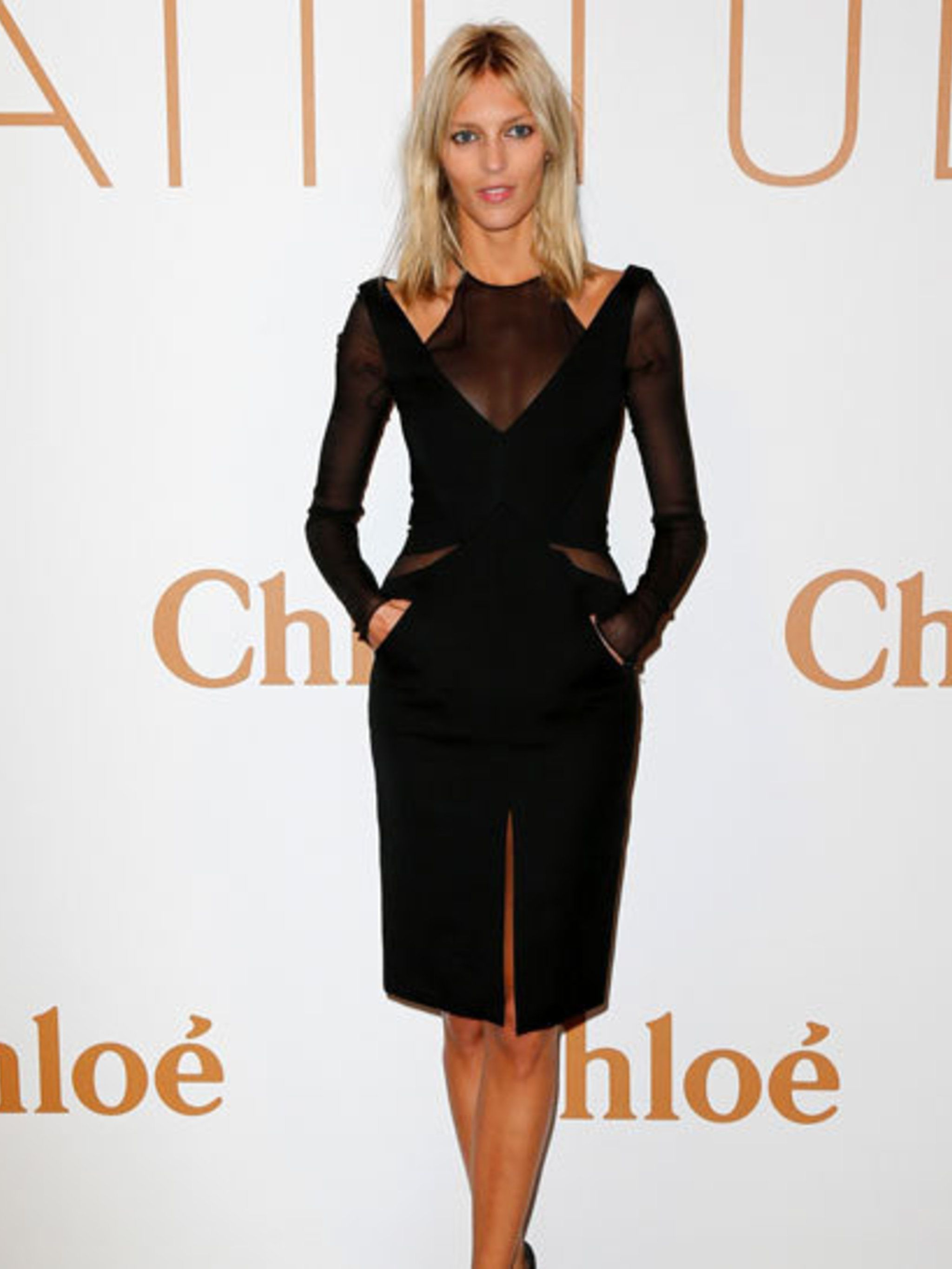 "<p><a href=""http://www.elleuk.com/style/occasions/models-off-duty"">Anja Rubik</a> at Chloé's 60th anniversary party at the Palais de Tokyo in Paris</p>"