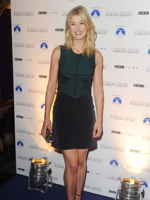 <p>Rosamund Pike at the UK premiere of Shadow Dancer in London.</p>