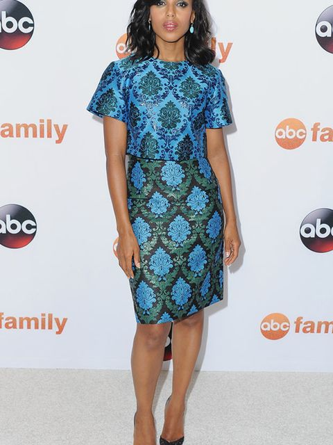 Kerry Washington wears Mary Katrantzou to an abc event in California, August 2015.