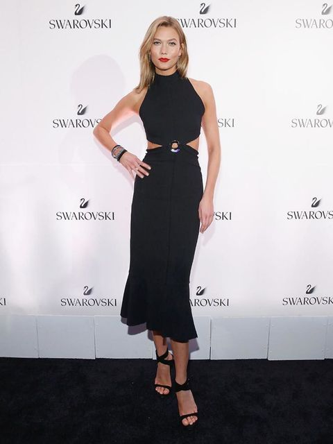 Karlie Kloss attends the Swarovski #bebrilliant event in New York, May 2016.