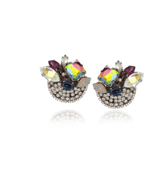 """<p>Exclusive multi stone clip on earrings, £125 at <a href=""""http://www.theoutnet.com/"""">www.theoutnet.com</a></p><p>Available from Monday 5th November </p>"""