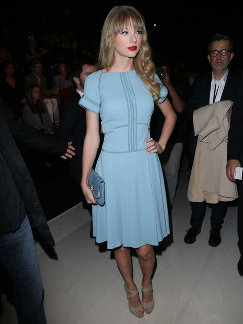 "<p>Singer <a href=""http://www.elleuk.com/star-style/celebrity-style-files/taylor-swift"">Taylor Swift</a> attends the <a href=""http://www.elleuk.com/catwalk/designer-a-z/elie-saab/spring-summer-2013"">Elie Saab</a> Spring Summer 13 show, Paris Fashion Week."
