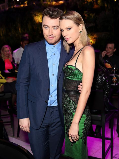 Taylor Swift and Sam Smith at the ELLE Style Awards after party, London, February 2015.