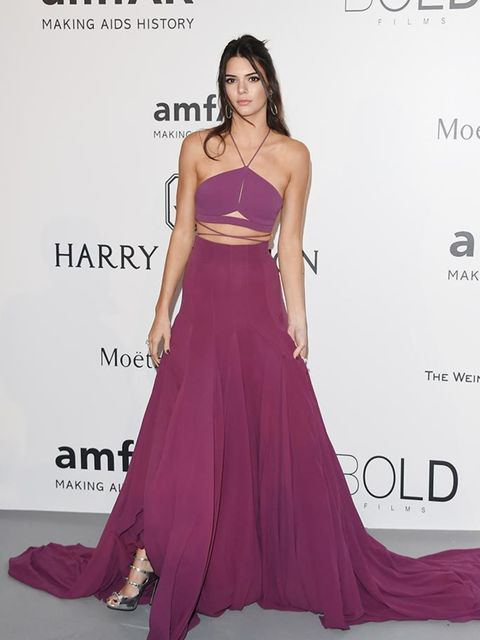 <p>Kendall Jenner wears Calvin Klein Collection and Giuseppe Zanotti shoes to amfAR's 22nd Cinema Against AIDS Gala, presented by Bold Films and Harry Winston at the Cannes Film Festival, May 2015.</p>