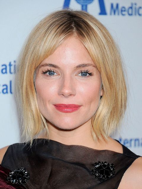 Sienna updated her usual blonde look...
