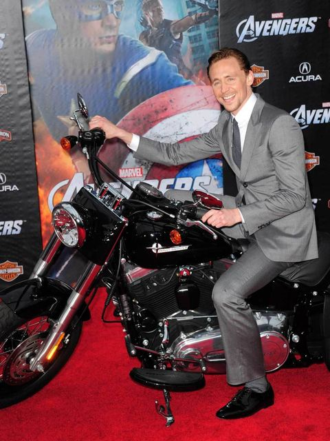 <p>Riding in to the Avengers premiere in Hollywood, 2012</p>