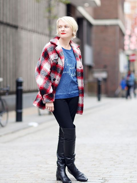 <p>Lorraine Candy – Editor in Chief.</p>  <p>Iasbel Marant Etoile at Matches coats, Whistles T'shirt, Prada boots, Joseph trousers.</p>