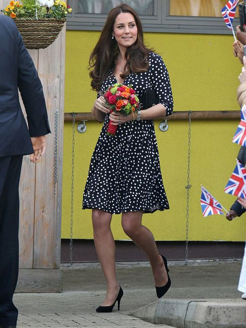 Kate Middleton wearing an ASOS dress whilst on Royal duties, March 2015.