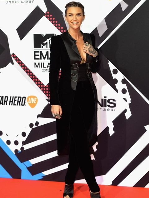 Ruby Rose attends the MTV EMA's in LA, October 2015.