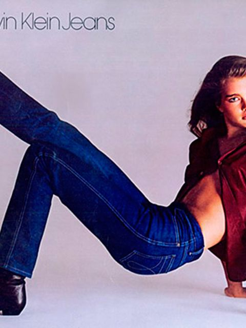 <p>Brooke Shields in a Calvin Klein Jeans campaign, 1981</p>
