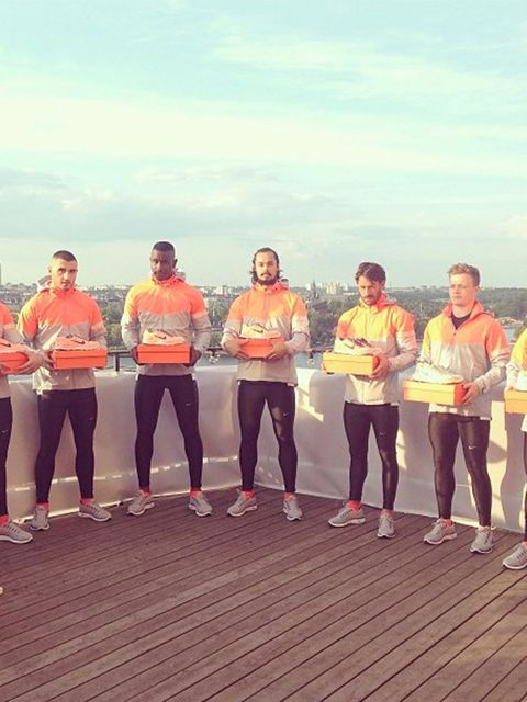 <p>Hot Swedish men presenting Nike's new LunarGlide + 5 shoe</p>