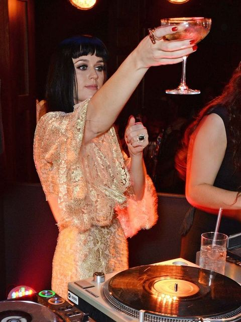 "<p><a href=""http://www.elleuk.com/elle-tv/cover-stars/elle-magazine/katy-perry-elle-behind-the-cover-video"">Katy Perry</a>, in Dolce & Gabbana, at the BRITs 2014 after-party at the Soho House pop up.</p><p><a href=""http://www.elleuk.com/elle-tv/cover-star"