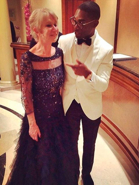 <p>Tinie Tempah:</p><p>'Some of the nicest words of the night came from this incredible woman here. So elegant and regal and one of my guilty pleasures congratulations on the Fellowship award and the kind words Dame Helen Mirren'</p>