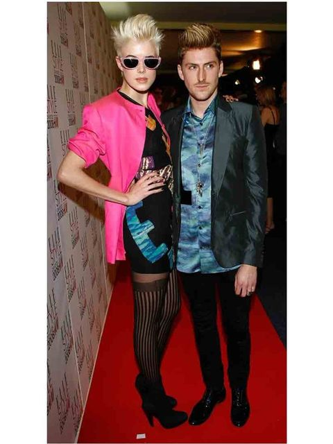 <p>Agyness Deyn and Henry Holland at ELLE Style Awards 2008.</p>