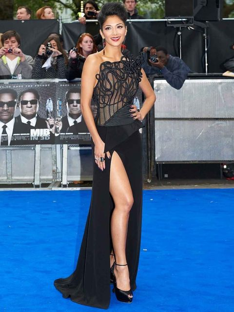 "<p><a href=""http://www.elleuk.com/content/search?SearchText=nicole+scherzinger&amp&#x3B;SearchButto"">Nicole Scherzinger</a> in a thigh-splitting Cengiz Abazoglu gown at the Men in Black III London Premiere</p>"