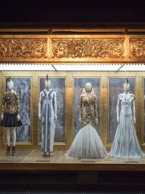 <p><strong>2) Romantic Gothic gallery.</strong></p>  <p>This takes in the rich glory of his later work, the couture-level craftsmanship housed in a golden box.</p>  <p>'I WANT TO EMPOWER WOMEN. I WANT PEOPLE TO BE AFRAID OF THE WOMEN I DRESS.'</p>
