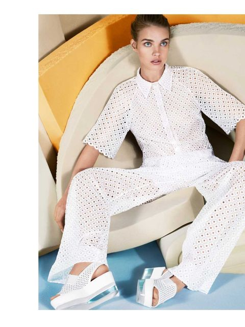 <p>Natalia Vodianova for Stella McCartney summer 2013 ad campaign. It's no wonder she's known as Natalia Supernova, she rocks this ad to the max. The angles, the clean lines, the muted tones – it's minimal perfection.</p>