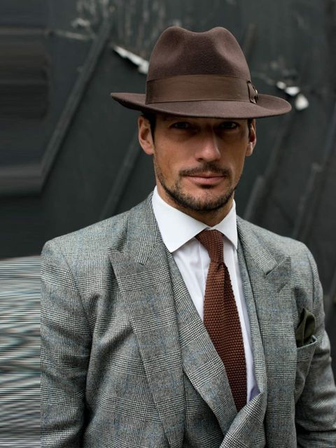 <p>David Gandy, Model. Neil Fennel October House Tailor suit, Thomas Pink shirt, Goorin Brothers hat, Reiss tie.</p>