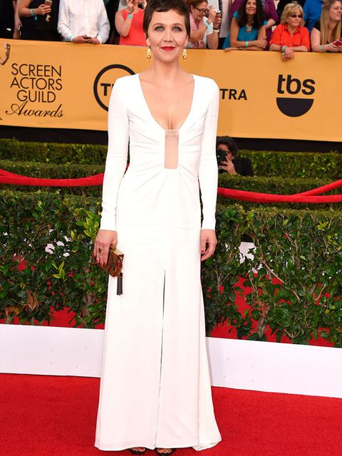 <p>Maggie Gyllenhaal wears Thakoon at the Screen Actor Guild Awards in LA, January 2015.</p>