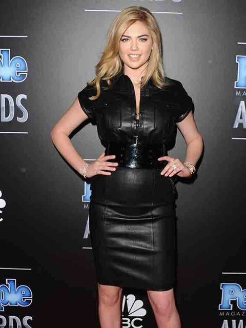 "<p><a href=""http://www.elleuk.com/tags/kate-upton"">Kate Upton</a> wears a Thomas Wylde skirt to the People Magazine Awards in California, December 2014.</p>"