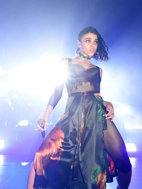 FKA Twigs performing at the MAC party during London Fashion Week, September 2015.