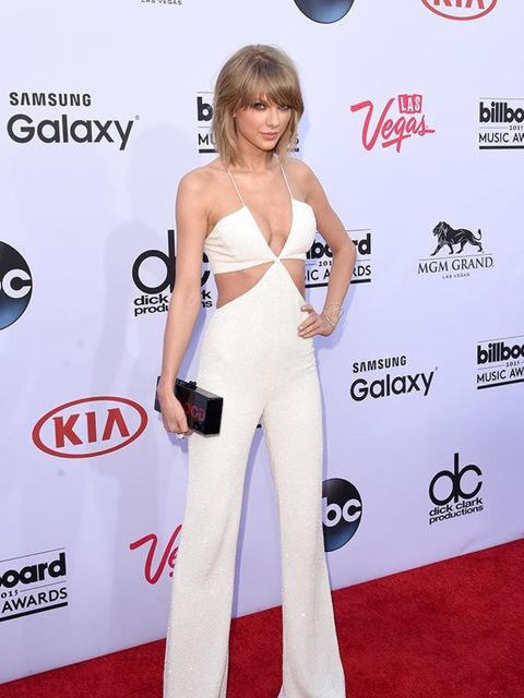 <p>Taylor Swift in Balmain at the Billboard Music Awards in LA, May 2015.</p>