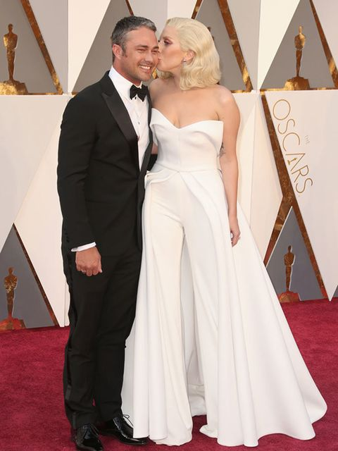 Taylor Kinney and Lady Gaga at the Oscars in LA, February 2016.