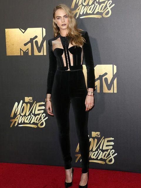 Cara Delevingne at the MTV Movie Awards in California, April 2016.