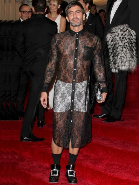 <p>Marc Jacobs at the 2012 Met Ball</p>