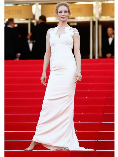 <p>Uma Thurman at the <em> A Fistful of Dollars</em> screening during the 67th Annual Cannes Film Festival.</p>