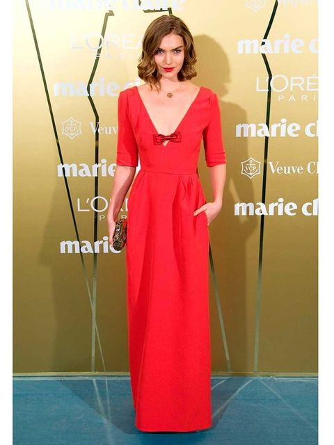 <p>Arizona Muse wears Louis Vuitton to the Prix de la Moda Marie Claire Award Ceremony 2013.</p>