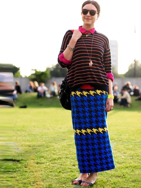 <p>Liza, Fashion. DKNY jumper, House of Holland skirt, Linda Farrow sunglasses.</p>