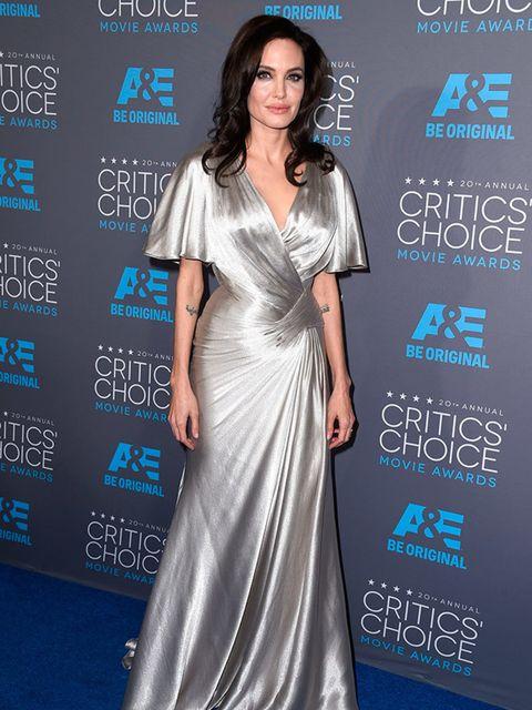 <p>Angelina Jolie in Versace at the Critics' Choice Awards 2015.</p>