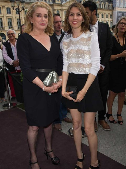 <p>Catherine Deneuve & Sofia Coppola at the new Louis Vuitton boutique</p>