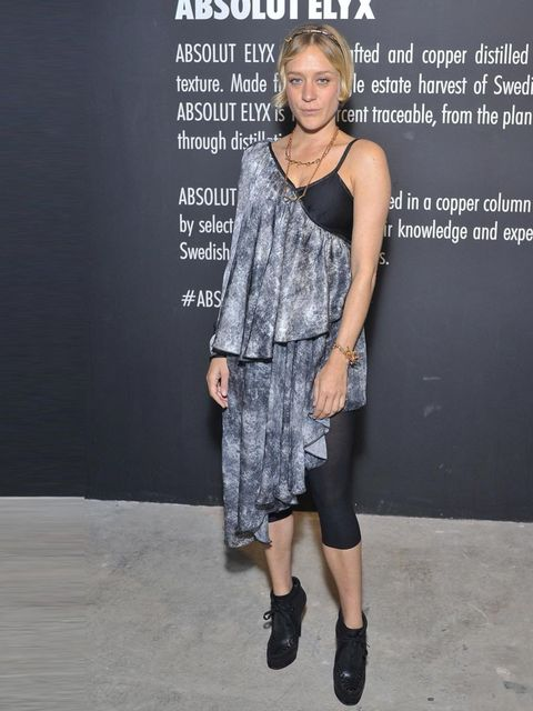 """<p><a href=""""http://www.elleuk.com/star-style/celebrity-style-files/chloe-sevigny"""">Chloe Sevigny</a> in <a href=""""http://www.elleuk.com/catwalk/designer-a-z/rodarte/spring-summer-2014"""">Rodarte</a> at the Absolut Elyx launch party, New York, May 2013.</p><p>"""
