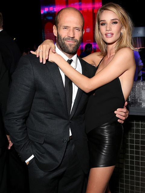 Rosie Huntington-Whiteley and Jason Statham at the ELLE Style Awards after party, London, February 2015.