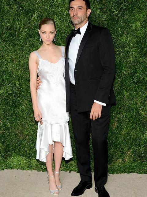 Amanda Seyfried and Riccardo Tisci at the CFDA awards in New York, November 2015.