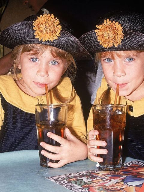 Twin actresses Mary-Kate and Ashley during the 90s