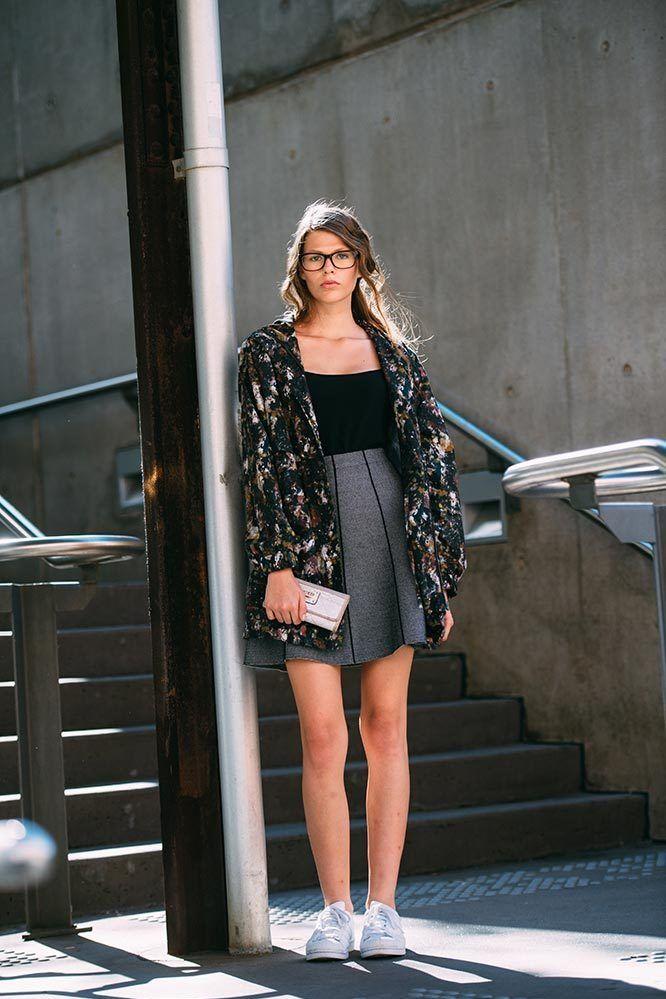 <p>Bianca Henry</p><p>Stolen Girlfriends Club jacket, Zara skirt, Adidas trainers</p>