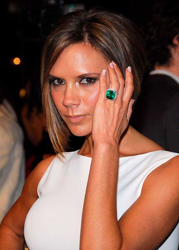Victoria Beckhams engagement ring collection