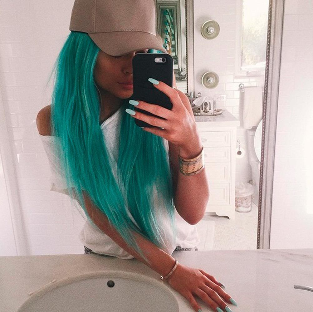 Kylie Jenner Goes Blue Perfect Festival Hair