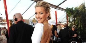 "<p> Kate Hudson arrives to the TNT/TBS broadcast of the 16th Annual Screen Actors Guild Awards on January 23, 2010 in Los Angeles wearing <a href=""http://www.elleuk.com/catwalk/collections/emilio-pucci/"">Emilio Pucci </a></p>"
