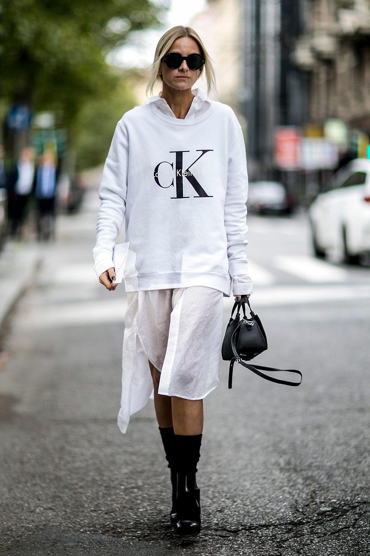 sweatshirt street style calvin klein