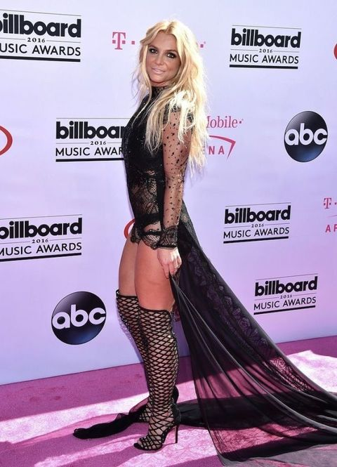 <p>Britney Spears at the 2016 Billboard Music Awards</p>