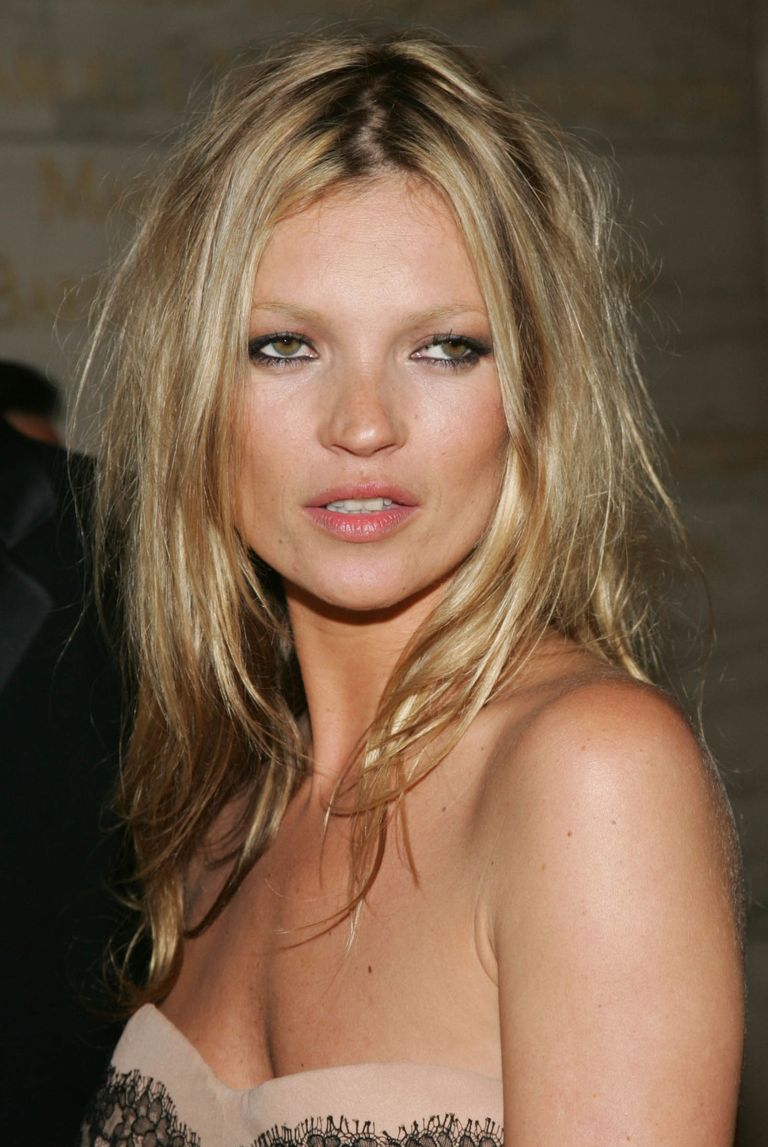 Kate moss With Long Blonde Hair
