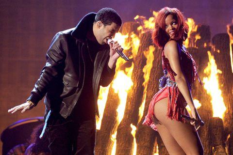 Rihanna and Drake at GRAMMY Awards | ELLE UK